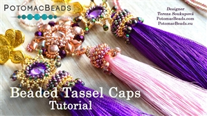 How to Bead / Free Video Tutorials / Beaded Beads / Beaded Tassel Cap Tutorial