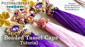 How to Bead / Free Video Tutorials / Beaded Beads / Beaded Tassel Cap Tutorial