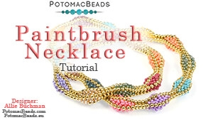 How to Bead Jewelry / Beading Tutorials & Jewel Making Videos / Bead Weaving Tutorials & Necklace Tutorial / Paintbrush Necklace Tutorial