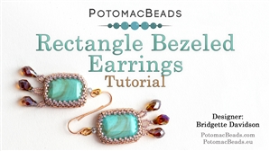 How to Bead Jewelry / Beading Tutorials & Jewel Making Videos / Earring Projects / Bezeled Rectangle Earrings Tutorial
