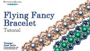 How to Bead Jewelry / Beading Tutorials & Jewel Making Videos / Bracelet Projects / Flying Fancy Bracelet Tutorial