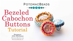 How to Bead Jewelry / Beading Tutorials & Jewel Making Videos / Beaded Beads / Bezeled Cabochons Buttons Tutorial