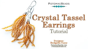 How to Bead / Free Video Tutorials / Earring Projects / Crystal Tassel Earrings Tutorial