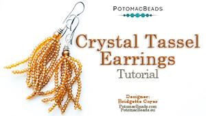 How to Bead Jewelry / Beading Tutorials & Jewel Making Videos / Earring Projects / Crystal Tassel Earrings Tutorial