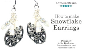 How to Bead Jewelry / Beading Tutorials & Jewel Making Videos / Holiday Themed Projects / Snowflake Earrings Tutorial