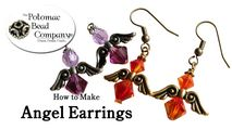 How to Bead / Free Video Tutorials / Earring Projects / Angel Earrings Tutorial