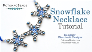How to Bead Jewelry / Beading Tutorials & Jewel Making Videos / Bead Weaving Tutorials & Necklace Tutorial / Snowflake Necklace