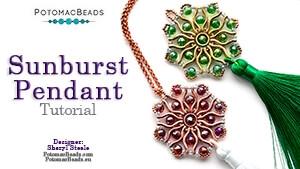 How to Bead Jewelry / Beading Tutorials & Jewel Making Videos / Pendant Projects / Sunburst Pendant Tutorial