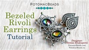 How to Bead Jewelry / Beading Tutorials & Jewel Making Videos / Earring Projects / Bezeled Rivoli Tutorial