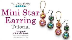 How to Bead Jewelry / Beading Tutorials & Jewel Making Videos / Earring Projects / Mini Star Earrings Tutorial