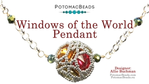 How to Bead Jewelry / Beading Tutorials & Jewel Making Videos / Pendant Projects / Windows of the World Pendant Tutorial