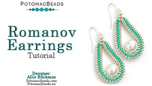 How to Bead / Free Video Tutorials / Earring Projects / Romanov Earrings Tutorial