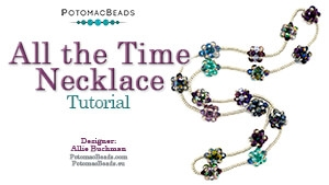 How to Bead Jewelry / Beading Tutorials & Jewel Making Videos / Bead Weaving Tutorials & Necklace Tutorial / All the Time Necklace Tutorial