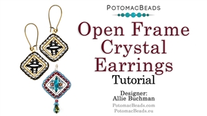 How to Bead / Free Video Tutorials / Earring Projects / Open Frame Crystal Earrings Tutorial