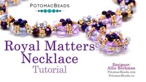 How to Bead Jewelry / Beading Tutorials & Jewel Making Videos / Bead Weaving Tutorials & Necklace Tutorial / Royal Matters Necklace Tutorial