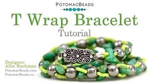 How to Bead / Free Video Tutorials / Bracelet Projects / T Wrap Bracelet Tutorial