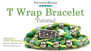 How to Bead Jewelry / Beading Tutorials & Jewel Making Videos / Bracelet Projects / T Wrap Bracelet Tutorial