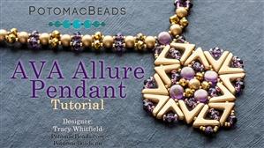 How to Bead Jewelry / Beading Tutorials & Jewel Making Videos / Pendant Projects / Ava Allure Pendant Tutorial