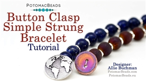 How to Bead / Free Video Tutorials / Bracelet Projects / Button Clasp Simple Bracelet Tutorial