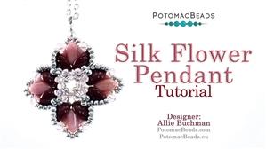 How to Bead Jewelry / Beading Tutorials & Jewel Making Videos / Pendant Projects / Silk Flower Pendant Tutorial