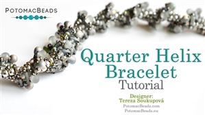 How to Bead Jewelry / Beading Tutorials & Jewel Making Videos / Bracelet Projects / Quarter Helix Bracelet Tutorial