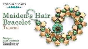 How to Bead Jewelry / Beading Tutorials & Jewel Making Videos / Bracelet Projects / Maiden's Hair (Ginko) Bracelet Tutorial