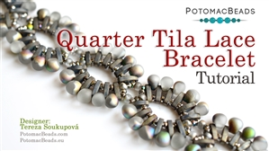 How to Bead Jewelry / Beading Tutorials & Jewel Making Videos / Bracelet Projects / Quarter Tila Lace Bracelet Tutorial