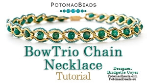 How to Bead Jewelry / Beading Tutorials & Jewel Making Videos / Bead Weaving Tutorials & Necklace Tutorial / BowTrio Chain Necklace Tutorial