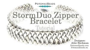 How to Bead Jewelry / Beading Tutorials & Jewel Making Videos / Bracelet Projects / StormDuo Zipper Bracelet Tutorial