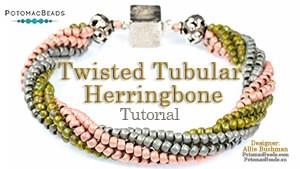 How to Bead Jewelry / Beading Tutorials & Jewel Making Videos / Bracelet Projects / Twisted Tubular Herringbone/Spiraling Tutorial