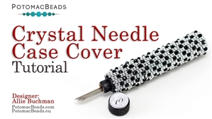 How to Bead / Free Video Tutorials / Beadweaving & Component Projects / Crystal Needle Case Cover Tutorial