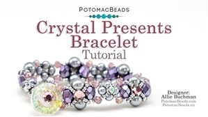 How to Bead / Free Video Tutorials / Bracelet Projects / Crystal Presents Bracelet Tutorial