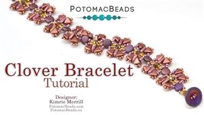 How to Bead Jewelry / Beading Tutorials & Jewel Making Videos / Bracelet Projects / Clover Bracelet Tutorial