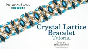 How to Bead Jewelry / Beading Tutorials & Jewel Making Videos / Bracelet Projects / Crystal Lattice Bracelet Tutorial