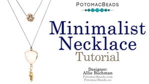 How to Bead Jewelry / Beading Tutorials & Jewel Making Videos / Stringing & Knotting Projects / Minimalist Necklace Tutorial