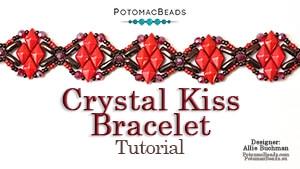 How to Bead Jewelry / Beading Tutorials & Jewel Making Videos / Bracelet Projects / Crystal Kiss Bracelet Tutorial