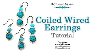 How to Bead Jewelry / Beading Tutorials & Jewel Making Videos / Wire Working Projects / Coiled Wire Earrings Tutorial