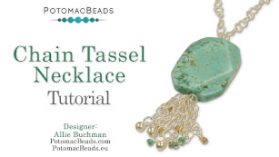 How to Bead Jewelry / Beading Tutorials & Jewel Making Videos / Wire Working Projects / Chain Tassel Necklace