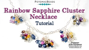 How to Bead Jewelry / Beading Tutorials & Jewel Making Videos / Wire Working Projects / Rainbow Sapphire Cluster Necklace Tutorial