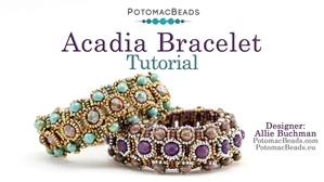 How to Bead Jewelry / Beading Tutorials & Jewel Making Videos / Bracelet Projects / Acadia Bracelet Tutorial