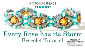 How to Bead Jewelry / Beading Tutorials & Jewel Making Videos / Bracelet Projects / Every Rose has its Storm Bracelet Tutorial