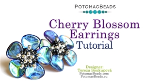 How to Bead / Free Video Tutorials / Earring Projects / Cherry Blossom Earrings Tutorial