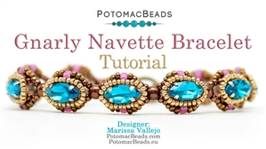 How to Bead / Free Video Tutorials / Bracelet Projects / Gnarly Navette Bracelet Tutorial