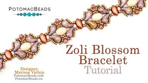 How to Bead / Free Video Tutorials / Bracelet Projects / Zoli Blossom Bracelet Tutorial