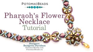 How to Bead Jewelry / Beading Tutorials & Jewel Making Videos / Bead Weaving Tutorials & Necklace Tutorial / Pharaoh's Flower Necklace Tutorial