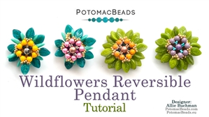 How to Bead Jewelry / Beading Tutorials & Jewel Making Videos / Pendant Projects / Wildflowers Reversible Pendant Tutorial