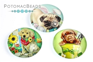 Jewelry Making Supplies & Beads / Cabochons Beads / Glass Cabochons / Glass Cabochons 18mm