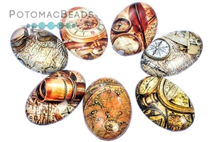 Jewelry Making Supplies & Beads / Cabochons Beads / Glass Cabochons / Glass Cabochons 20x30mm