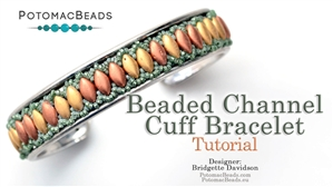 How to Bead / Free Video Tutorials / Bracelet Projects / Beaded Channel Cuff Bracelet Tutorial