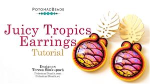 How to Bead / Free Video Tutorials / Earring Projects / Juicy Tropics Soutache Earrings Tutorial